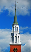 Burlington, Vermont, USA - spire of the Unitarian Church.jpg
